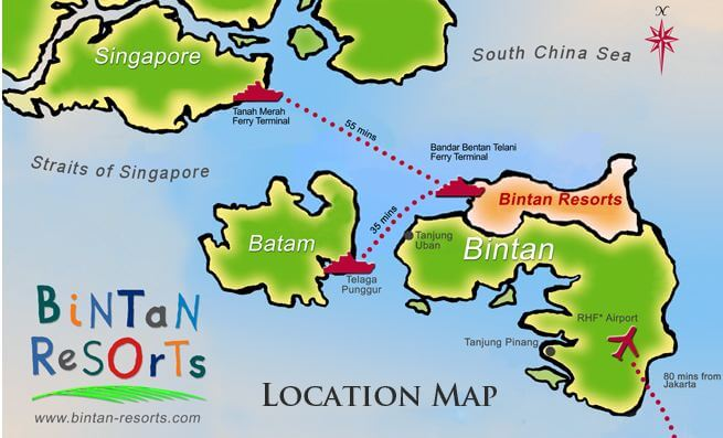 A Quick 45min Ferry From The Tanah Merah Terminal TMFT Plus 15 Minutes Land Transfer