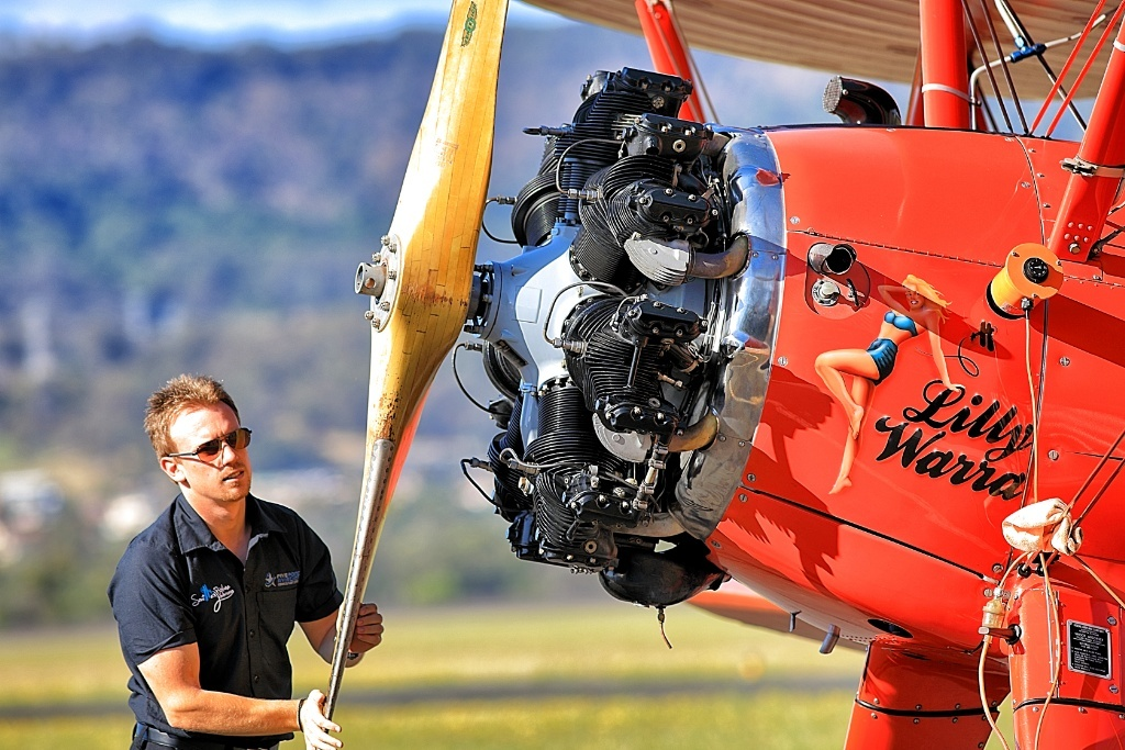 Vintage Biplane Aerial Adventure in New South Wales, Australia