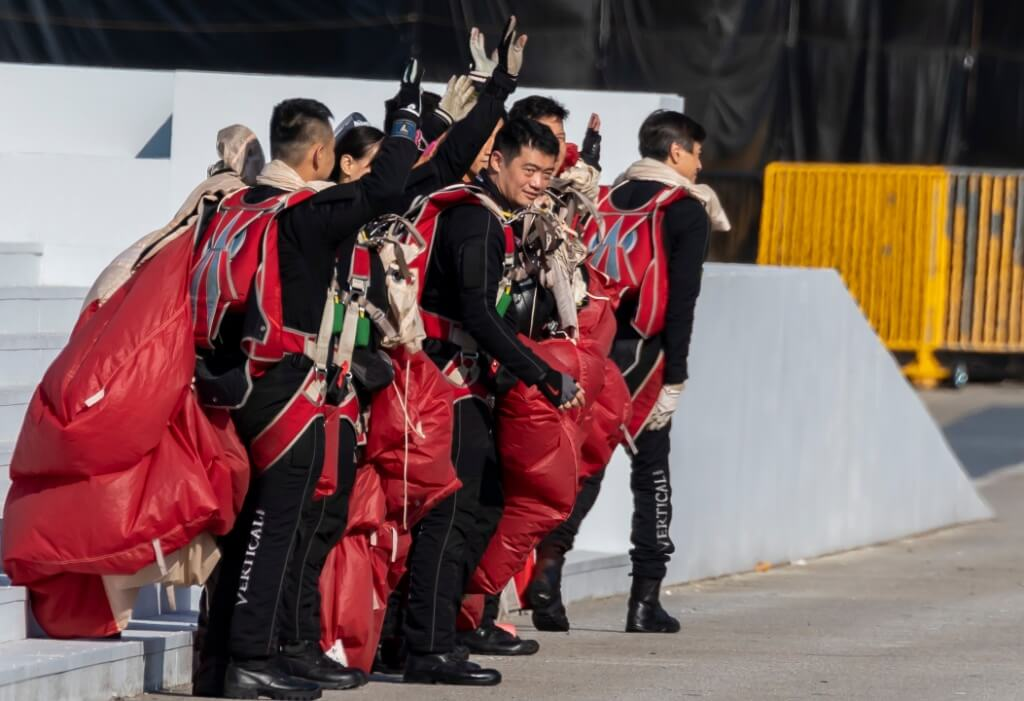 Red Lions Team saying farewell to spectators